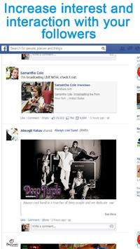 FrienC Broadcast live Facebook apk screenshot