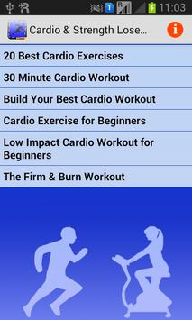 Cardio & Strength Lose Weight poster