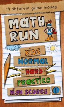 Math Run poster