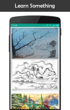 Drawing a scenery apk screenshot