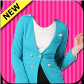 Woman Fashion Photo Suit icon