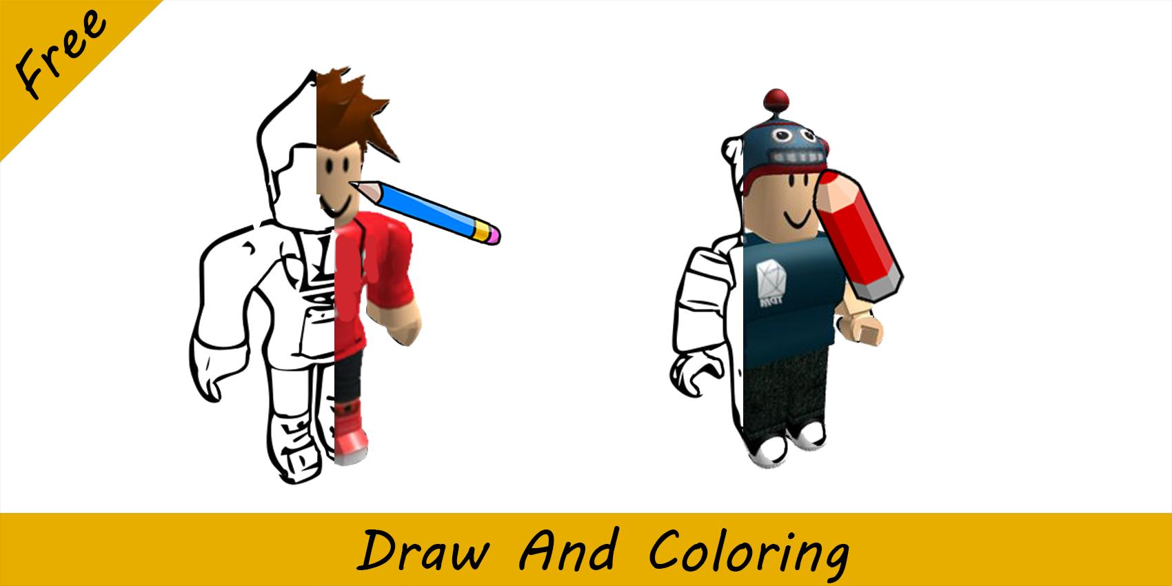 Easy Roblox Drawings How To Draw Coloring Roblox For Android Apk Download