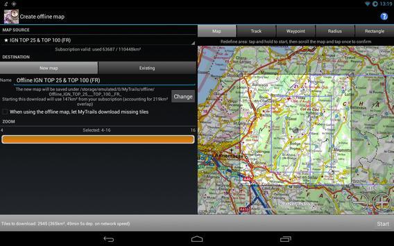 MyTrails apk screenshot