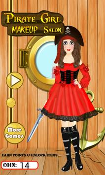 Pirate Girl MakeUp Salon poster