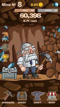 SWIPECRAFT - Idle Mining Game تصوير الشاشة 1