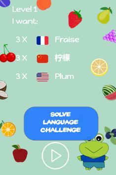 Brainy Fruits Match 3 – Language puzzle Challenge screenshot 2