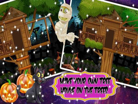 Tree house  builder : Halloween Game screenshot 8