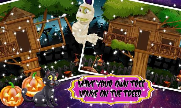 Tree house  builder : Halloween Game screenshot 3