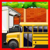 Kids school Bus Stop Restaurant - Food making game icon