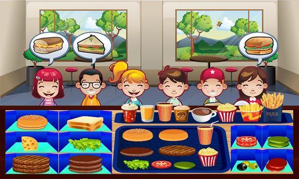 Kids school Bus Stop Restaurant - Food making game screenshot 3