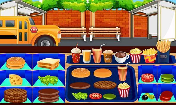 Kids school Bus Stop Restaurant - Food making game screenshot 1
