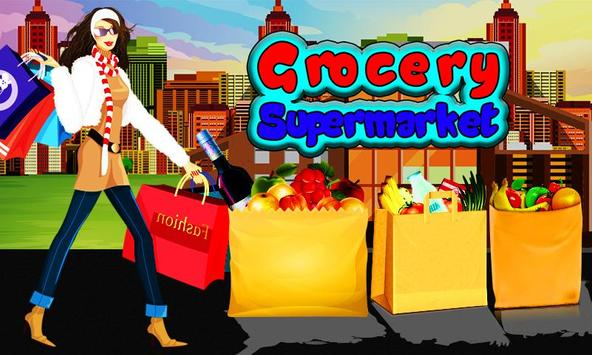 Grocery Shop Cashier - shopping game for kids poster