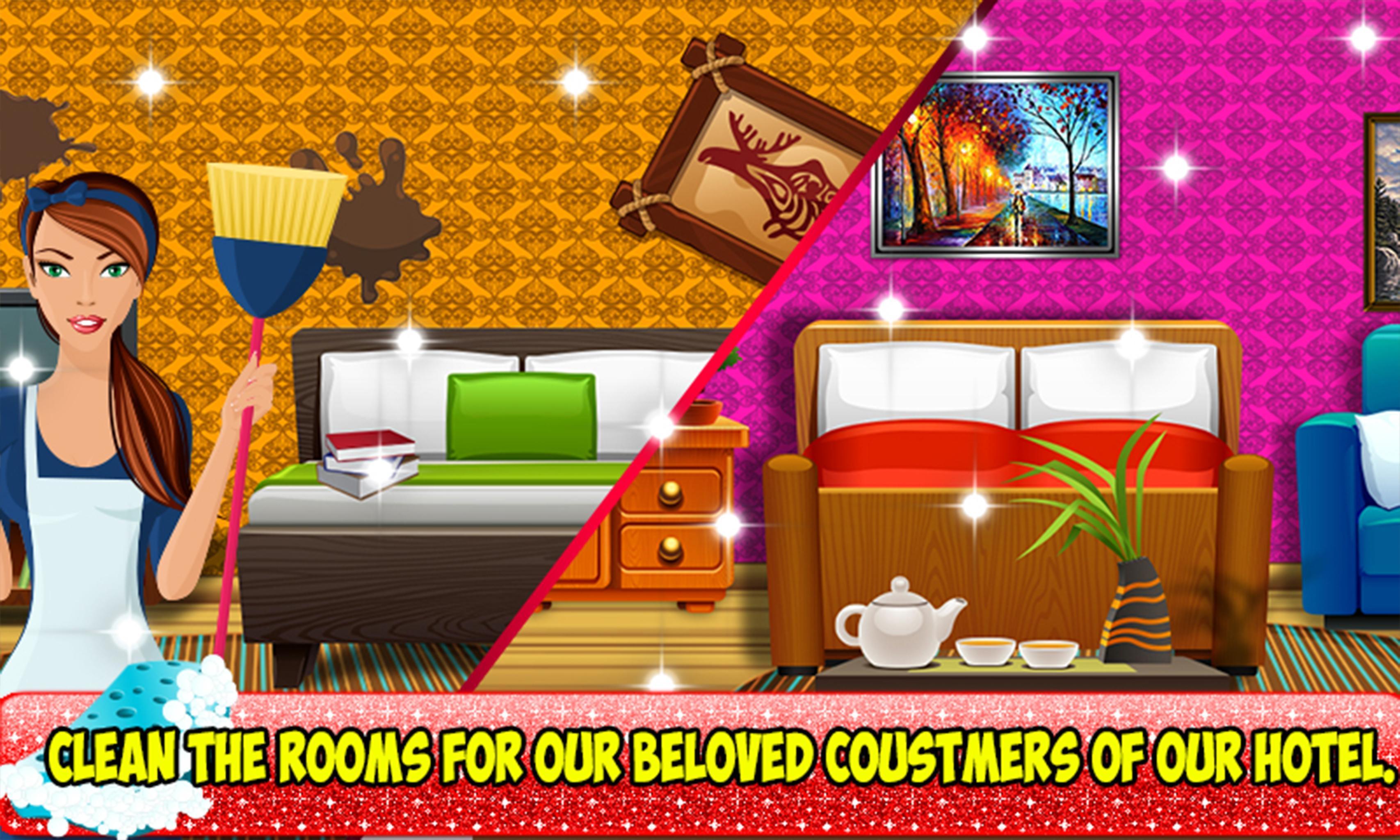 Giochi Pulire Le Stanze direttore dell'hotel: pulizia delle camere e gioco for