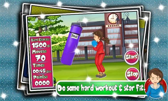 Kids Workout Fitness Girl Games Fat to Fit apk screenshot