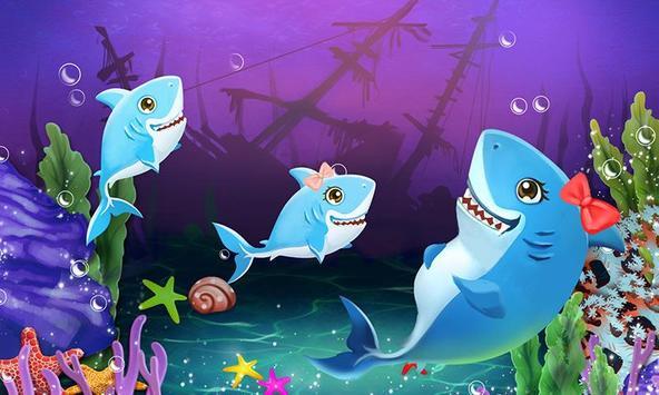 Shark Mommy's New Ocean Baby poster