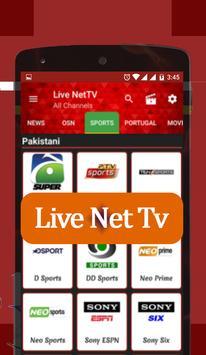 Live Net Tv 2018 screenshot 1