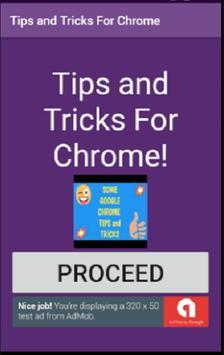 Tips and Tricks For Google Chrome poster