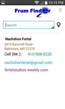 Frum Finder apk screenshot