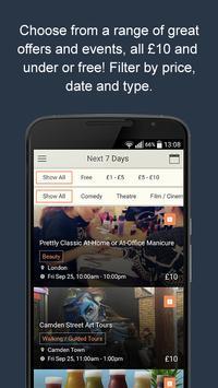 Frugl – Find events in London screenshot 1