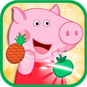 Pig fruit time of peppie icon