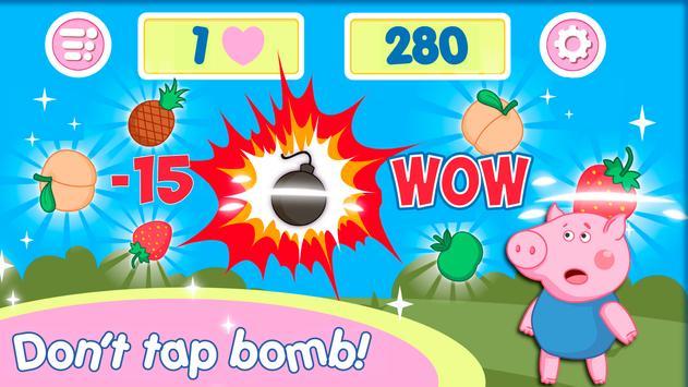 Pig fruit time of peppie apk screenshot