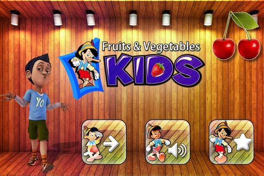 Fruits Vegetables For Toddlers kids poster