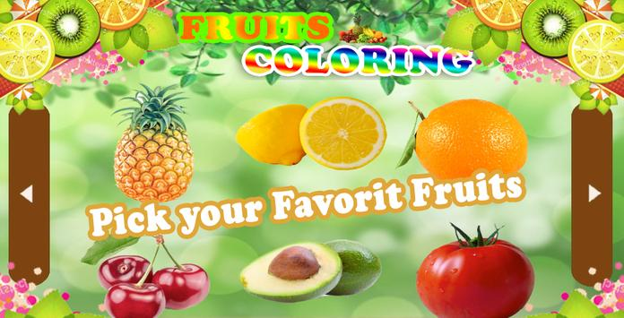 Fruit Coloring Book 2017 Poster