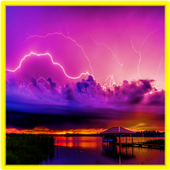 Thunderstorming Lightning Stormy Live Wallpapers icon