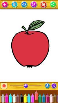 Fruits Coloring Book Drawing Apk Screenshot