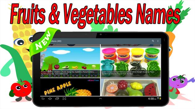 fruits and vegetables names apk download free education app for