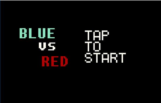 Blue vs Red poster