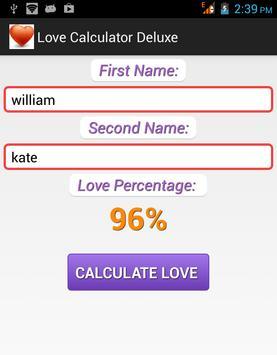 Love Calculator Deluxe apk screenshot
