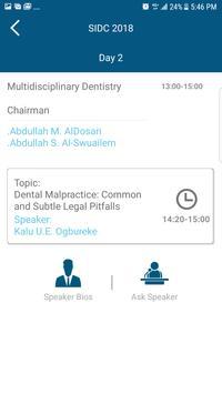 Saudi International Dental Society 2018 screenshot 3