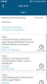 Saudi International Dental Society 2018 screenshot 5