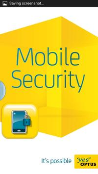 Optus Mobile Security poster