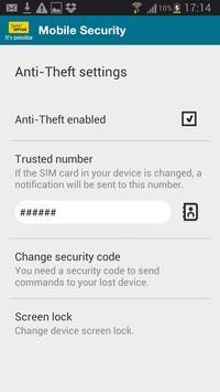 Optus Mobile Security apk screenshot