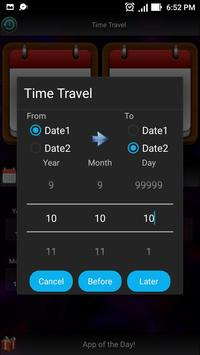 Time Travel : Date Calculator apk screenshot