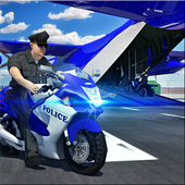 Police Airplane Transport Bike icon
