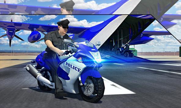 Police Airplane Transport Bike screenshot 3