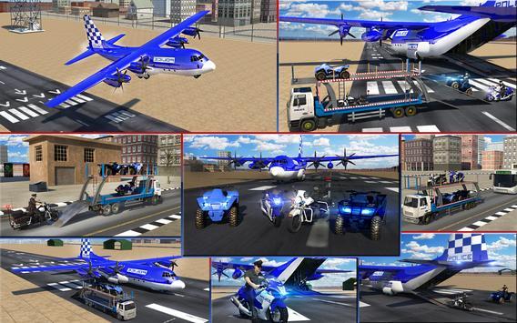 Police Airplane Transport Bike screenshot 13