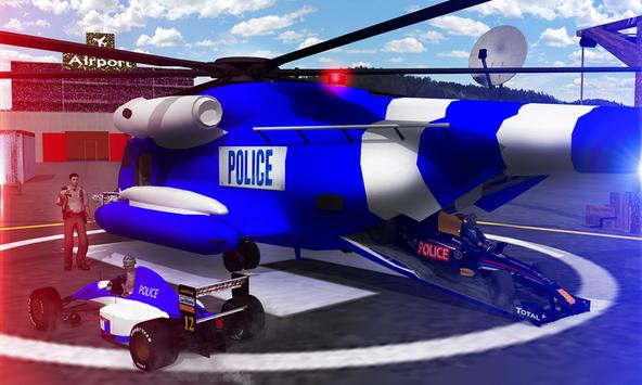 Police Airplane Transport Bike screenshot 2