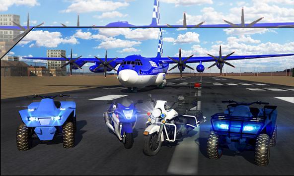 Police Airplane Transport Bike screenshot 5