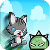 Cat Run in jungle adventures icon