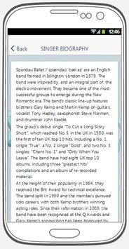Spandau Ballet best songs & lyrics. screenshot 2