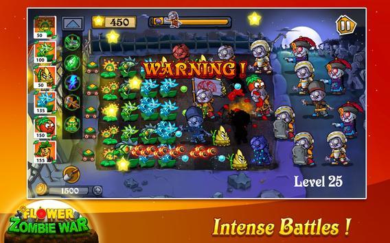 Flower Zombie War تصوير الشاشة 7