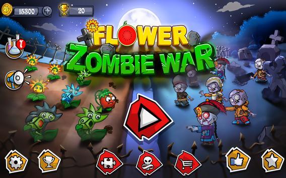 Flower Zombie War الملصق