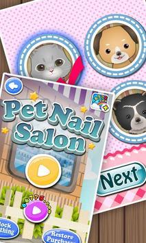 Pets Nail Salon - kids games poster