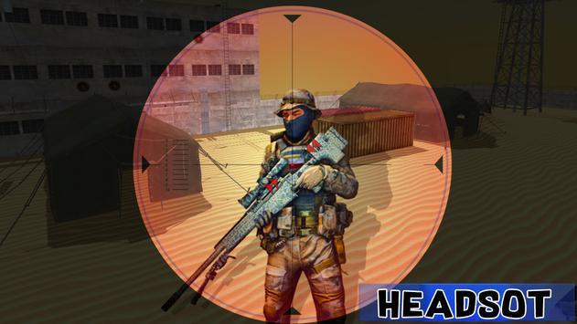 Sniper Desert Combat Killer Attack Shooting screenshot 1