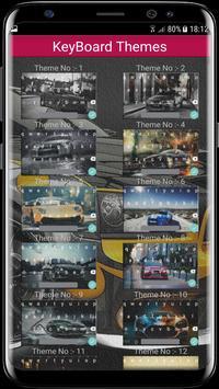 Super Car Keyboard Themes. screenshot 2