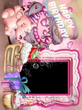 Happy Birthday Photo Frame and Greeting card poster